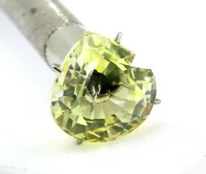 10.95 Ct Natural Yellow Sapphire Pear Cut AGSL Certified Loose Gemstone