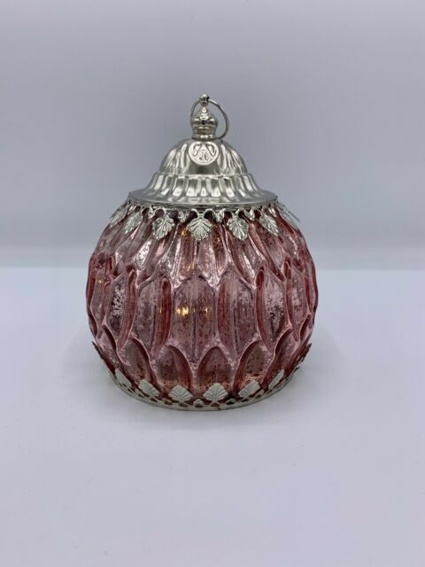 "Glaslaterne ""rosa"" con iluminación LED (15 CM, hermann bauer, viento luz, otoño)"