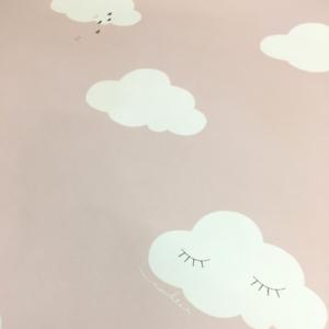 Details zu EUR 4,69/qm / Smita Tapete ND 21115 Sweet Dreams Kinderzimmer  Wolken Rosa Weiß