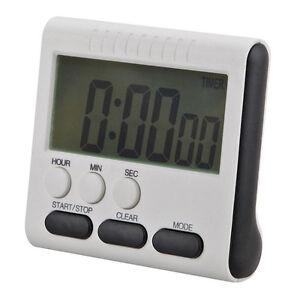 Große LCD Magnetic Digital Timer Küche Kochen Count Up Down Wecker