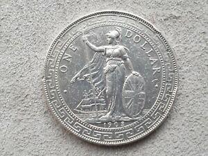 British-Trade-Dollar-1903-Silver-Coin-Hong-Kong-Straits-Settlements-Bombay-mint