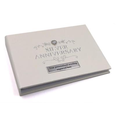 25th Silver Wedding Anniversary Photo Album 50 Pictures Raised Jewel 280161