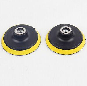 "2pcs 4"" 100mm M10 Rubber Drill Buffer Buffing Polishing Pad Grinding Plate Disc"