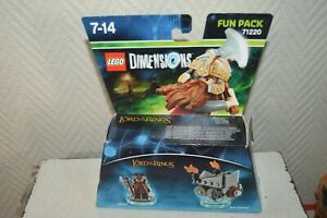 BOITE-JEU-LEGO-DIMENSIONS-LORD-OF-RING-GIMLI-AXE-CHARIOT-NEUF-BOITE