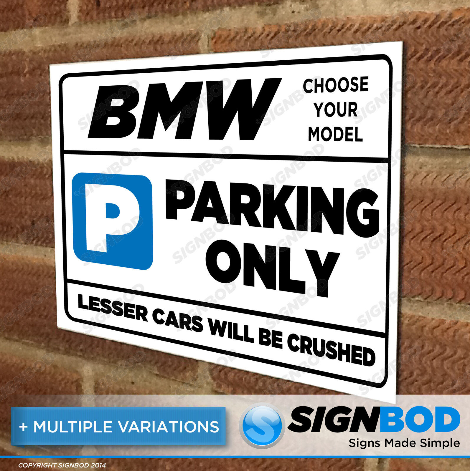 Furniture Signs Décor Restaurant Catering Business - Bmw parking only signs