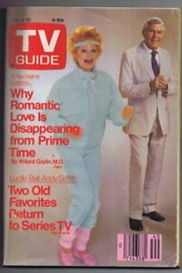 ORIGINAL-Vintage-TV-Guide-October-4-1986-NO-LABEL-Lucille-Ball-Andy-Griffith