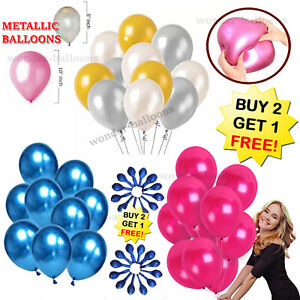 """10-100 10"""" 5"""" Pearl Metallic ballon ballons hélium ballon weddingparty Anniversaire"""