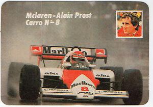 1985 portugiesisch tischkalender f1 mclaren tag team fahrer alain