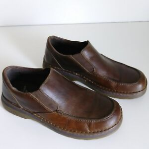 Dr MARTENS Brown Leather Mens Shoes