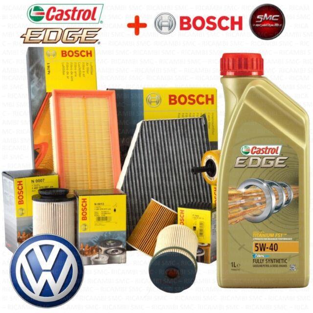 Kit tagliando olio CASTROL EDGE 5W40 5LT 4 FILTRI BOSCH VW PASSAT 1.9 TDI AVB