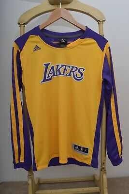 NBA LA LAKERS Basketball ADIDAS Long Sleeve Jersey Youth L 14-16 Kobe Bryant ERA | eBay