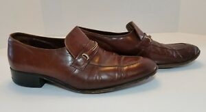 3fe1334b2ed FLORSHEIM Men s Dress Shoes Brown Leather Slip On Loafer Size 11 D ...