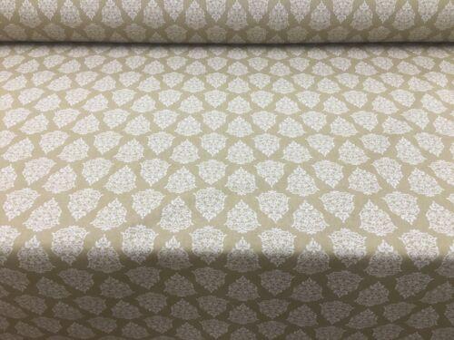 Florencia Toile Ocre Amarillo Lino//Algodón//Tela De Tapicería De Cortina De 140cm de ancho