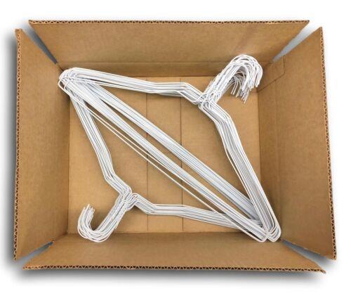 Wire Hangers in Bulk 18 Inch 14.5 Gauge Standard ... 100 White Metal Hangers