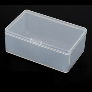 Square-Plastic-Transparent-With-Lid-Storage-Box-Collection-Container-Case-JP