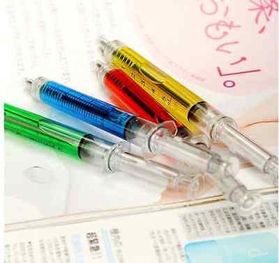 Lot 4 Syringe Shape Pens Ball Point Pen Fashion Pens For Hospital Nurse / New