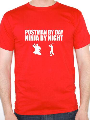 Funny Postman T-Shirt-Postman BY DAY NINJA BY NIGHT-idée cadeau