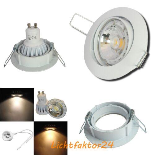 8er Set Dimmbarer LED Einbaustrahler Jan 230Volt Deckenleuchten 7Watt GU10