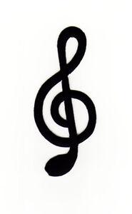 ac95 notenschlüssel violinschlüssel musik noten aufnäher bügelbild 4 x 9 cm | ebay