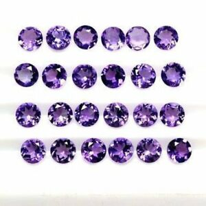 3x3mm-10x10mm-Round-Cut-Faceted-100-Natural-Amethyst-Loose-Gemstones-Amethyst