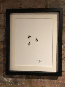 Bumble-Bees-Original-Watercolour-Painting-Original-Art-Not-A-Print