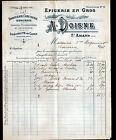 """SAINT-AMAND-MONTROND (18) EPICERIE & CONFISERIE en gros """"A. DOISNE"""" 1914"""