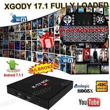 2017 XGODY Android 7.1 Nougat TV BOX Latest 17.1 FULLY LOAD S905X 4K Keyboard I8