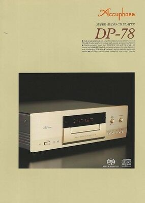 Radient ♫ Accuphase Dp-78 Prospekt 4-seitig Farbe Fest In Der Struktur Tv, Video & Audio