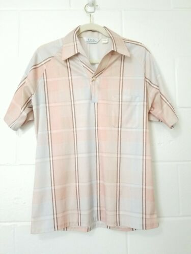 Vtg Lilly Daché Mens Short Sleeve Abstract Polyest
