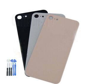 Rear-Battery-Glass-Cover-Housing-Back-Door-Replace-For-iPhone-8-4-7-034-With-Logo