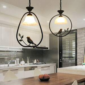 Image Is Loading Bird Pendant Light Gl Chandelier Bar Table Led