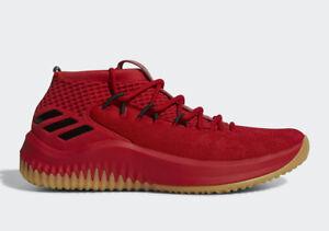 b62a0909e7b Adidas Dame 4 Basketball Shoe Red Black Gum Damian Lillard sz ...