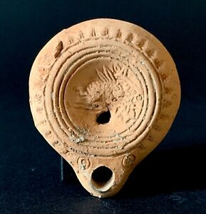 Lampe-a-huile-epoque-romaine-40-a-100-ap-JC-roman-oil-lamp-roman-antiquities