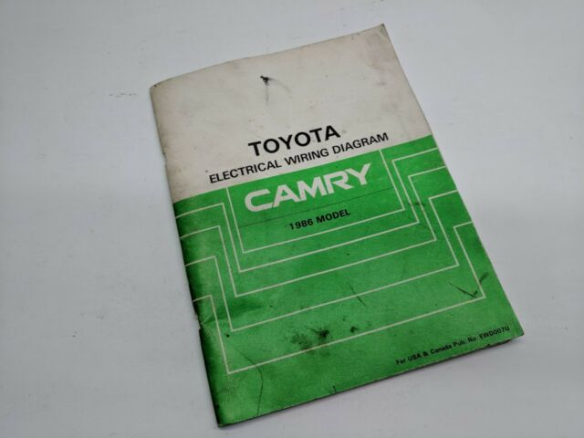1986 Toyota Camry Factory Wiring Diagram Shop Manual | eBay
