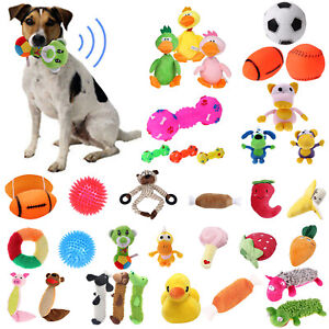 Pet-Dog-Cat-Puppy-Chew-Toy-Squeaker-Squeaky-Sound-Soft-Plush-Play-Training-Toys