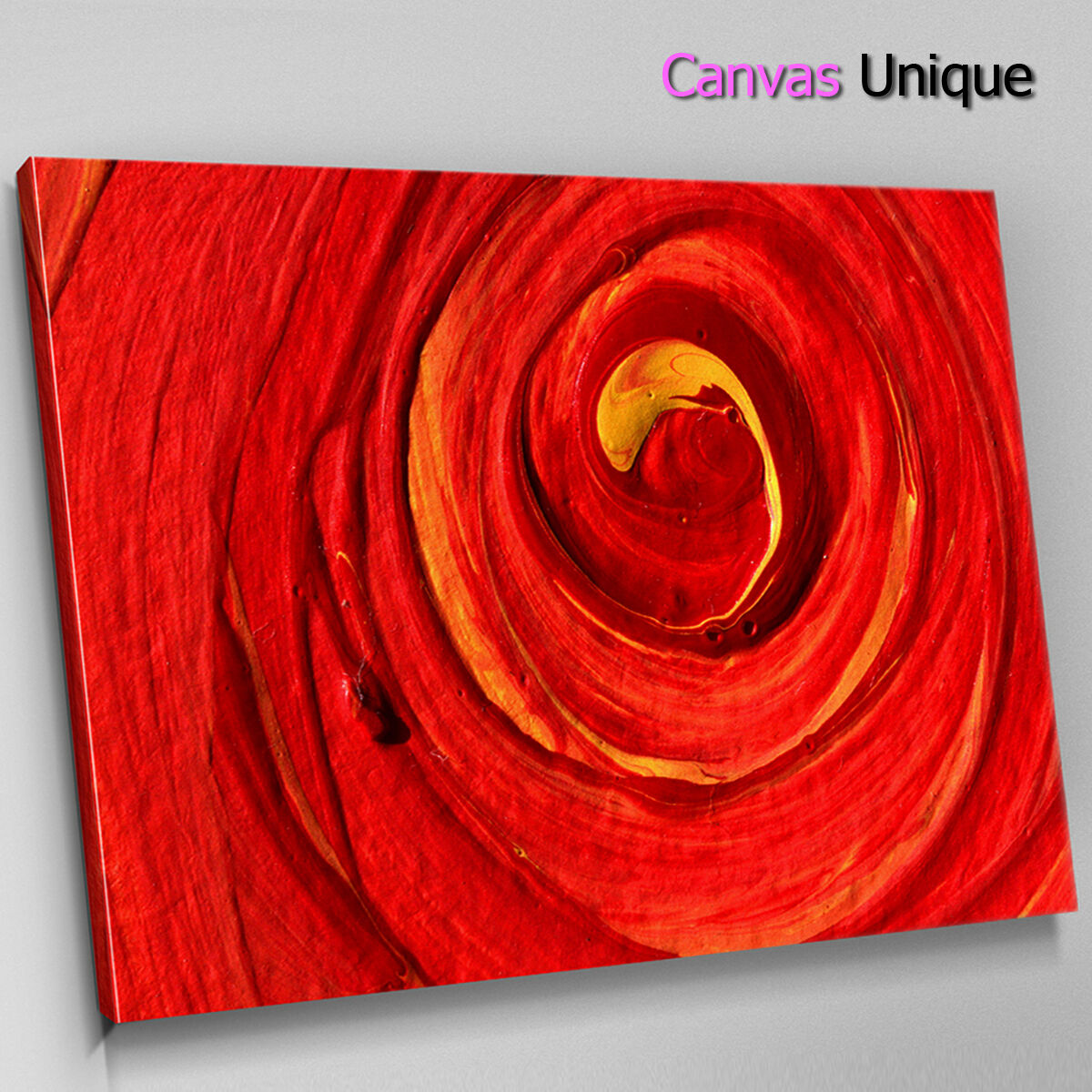 AB1448 Orange swirl painting Effect Abstract Wall Art Picture Large Canvas Print
