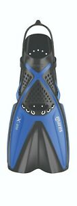 Mares-X-One-Scuba-Diving-Snorkeling-Swimming-Dive-Open-Heel-Short-Fins-Blue