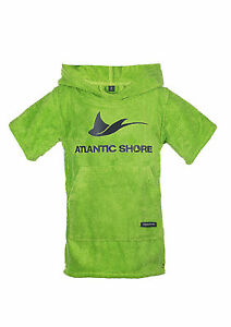 Atlantic-Shore-Surf-Poncho-Bademantel-Umziehhilfe-fuer-Baby-Green
