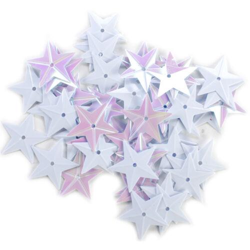 Star Sequins White Iridescent 18Mm