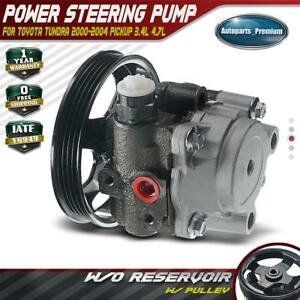 Power Steering Pump with Pulley Assembly for 2000-2004 Toyota Tundra V6 3.4L