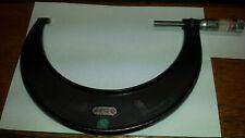 Vintage Starrett No436 5 6 Inch Outside Micrometer 001grad