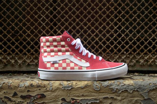831b82357a8 Vans SK8 Hi Pro Checkerboard Desert Rose Men s Classic Skate Shoes Size 9