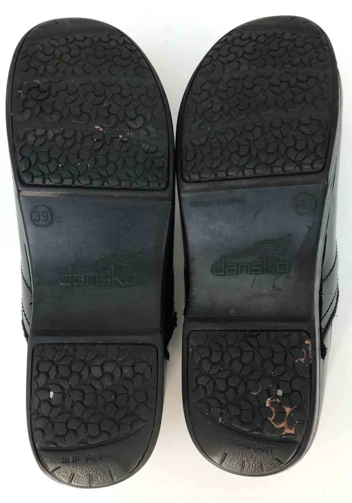 Dansko Negro Cuero Zuecos Elástico Vamp Cerrado toe y y y talón-SZ 39 US 9 6de50a