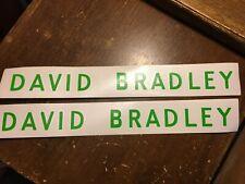 New Set Of 2 David Bradley Walk Behind Garden Tractor Hood Vinyl Cut Decals