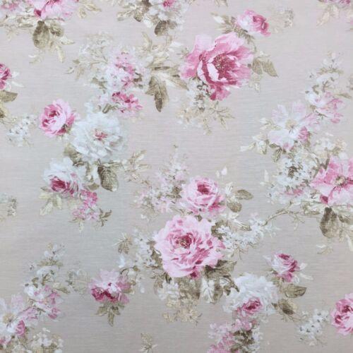 """Diseño de jardín de rosas algodón rico tejido de lino cortinajes /& Tapicería 54/"""" de ancho"""