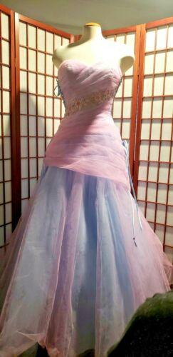 ALYCE DESIGN Unicorn pink SEQUIN EVENING DRESS GOW