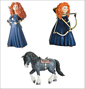 Official Bullyland Disney Brave Figures Toys Cake Topper Toppers Toy Figure