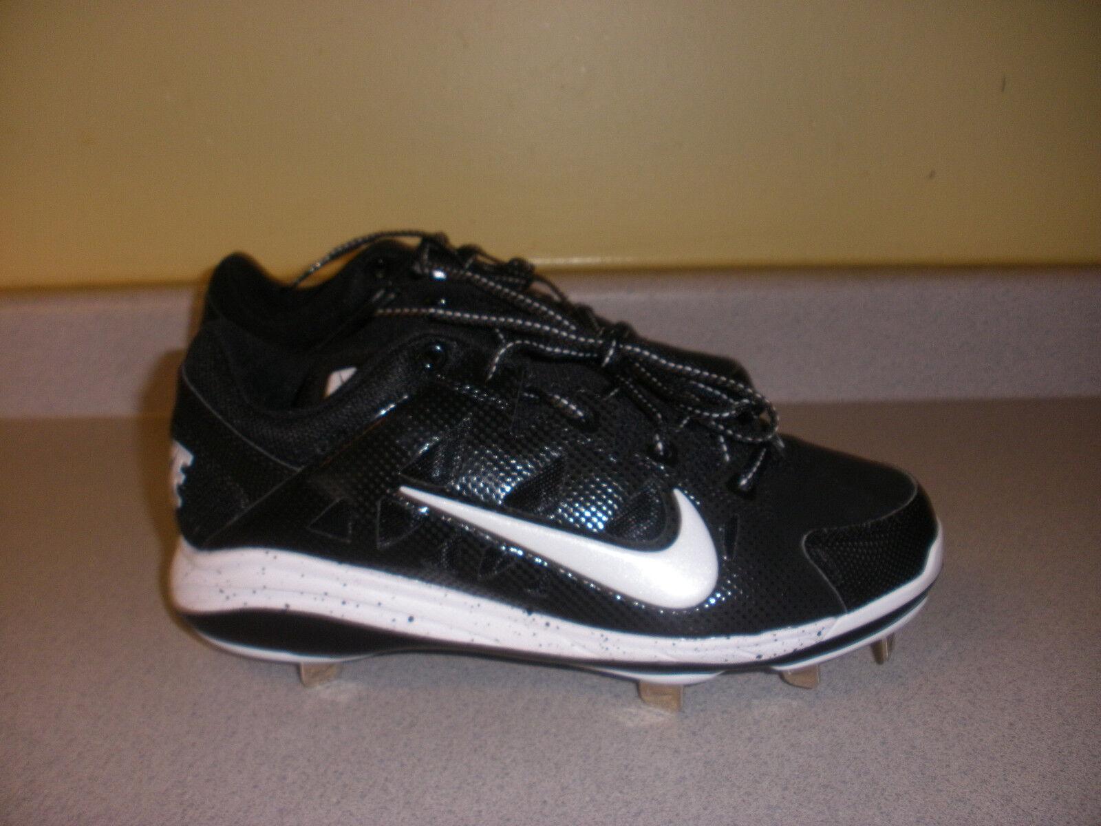 Men's Nike Hyper Diamond Baseball Cleats Size 8 white black