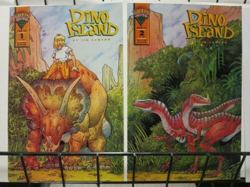 1993 MI DINO ISLAND 1-2 Dinosaurs R us complete story