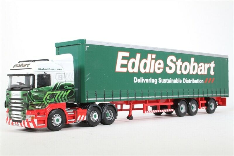 CORGI CC13747 1 50 SCANIA R LIFTING SUPER Curtainside Trailer Eddie Stobart
